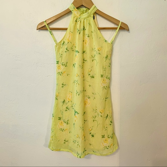 THE CHILDREN'S PLACE Yellow Floral Halter Dress